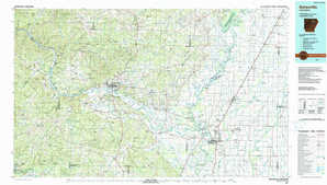 Batesville topographical map