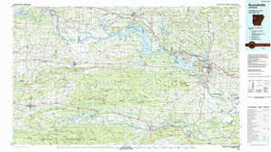 Russellville topographical map