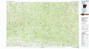 Fly Gap Mountain topographical map