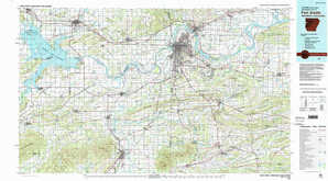 Fort Smith topographical map