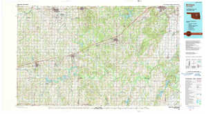 Bristow topographical map