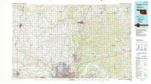 Oklahoma City North topographical map