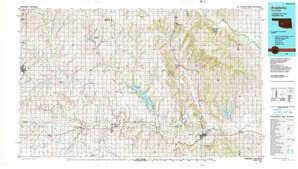 Anadarko topographical map
