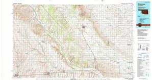 Watonga topographical map