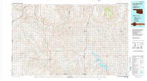 Foss Reservoir topographical map