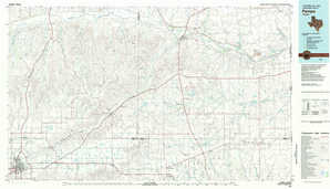 Pampa topographical map
