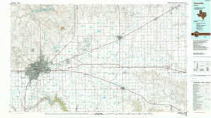Amarillo topographical map