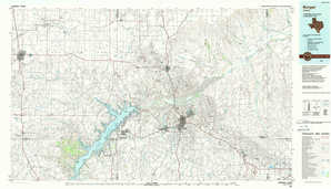 Borger topographical map