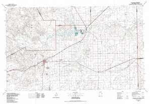 Tucumcari topographical map