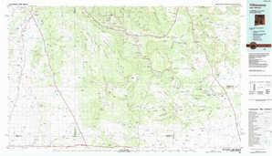 Villanueva topographical map