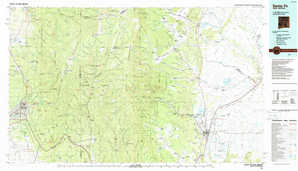 Santa Fe topographical map