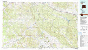 Zuni topographical map