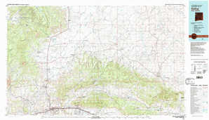 Gallup topographical map