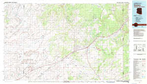 Sanders topographical map