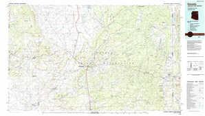 Ganado topographical map