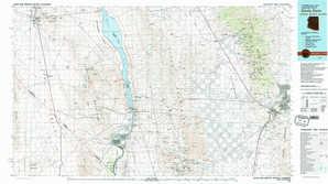 Davis Dam topographical map