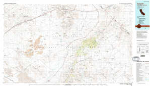 Ivanpah topographical map