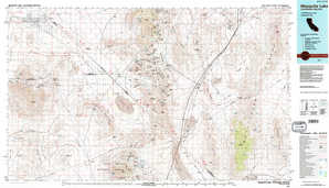 Mesquite Lake topographical map