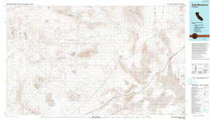 Soda Mountains topographical map