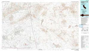 Cuddeback Lake topographical map