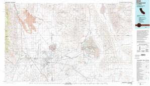 Ridgecrest topographical map