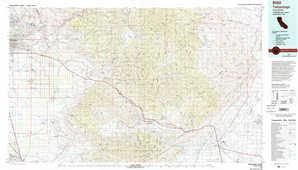 Tehachapi topographical map