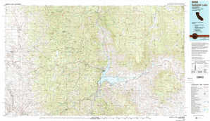 Isabella Lake topographical map