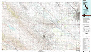 Taft topographical map