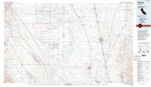 Delano topographical map