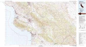 San Luis Obispo topographical map