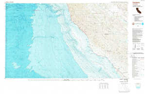 Cambria topographical map