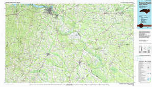 Roanoke Rapids topographical map