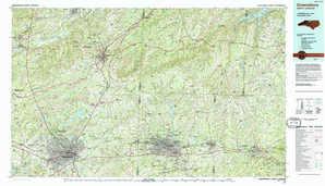 Greensboro topographical map