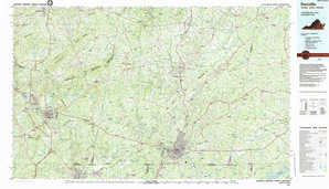 Danville topographical map