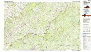 Galax topographical map