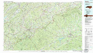 Boone topographical map