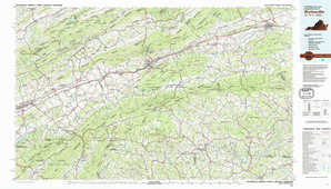 Wytheville topographical map