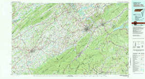 Johnson City topographical map