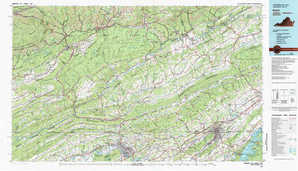 Bristol topographical map