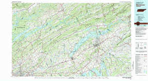 Morristown 1:250,000 scale USGS topographic map 36083a1