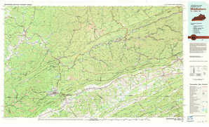 Middlesboro topographical map
