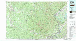 Oak Ridge 1:250,000 scale USGS topographic map 36084a1