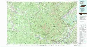 Oak Ridge topographical map