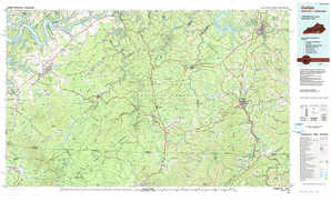 Corbin 1:250,000 scale USGS topographic map 36084e1