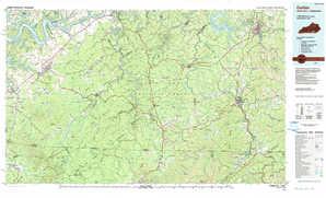 Corbin topographical map