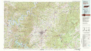 Cookeville 1:250,000 scale USGS topographic map 36085a1