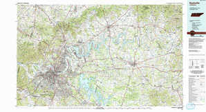 Nashville topographical map