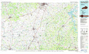 Bowling Green topographical map