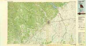 Poplar Bluff 1:250,000 scale USGS topographic map 36090e1