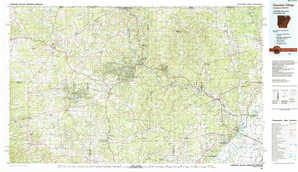 Cherokee Village 1:250,000 scale USGS topographic map 36091a1